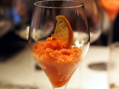 ブラッドオレンジのソルベ