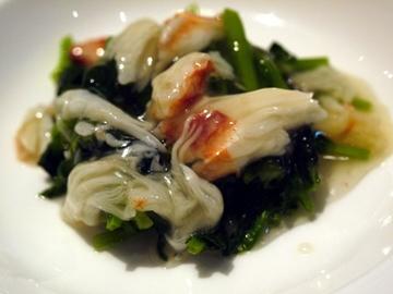 青菜と蟹の炒め