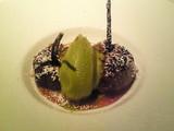 焼き無花果とピスタチオアイス