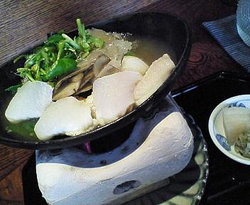 舌平目とみやま牛蒡の小鍋