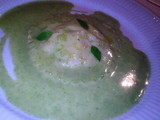 ジャガイモを詰めたラヴィオリ バジリコ風味