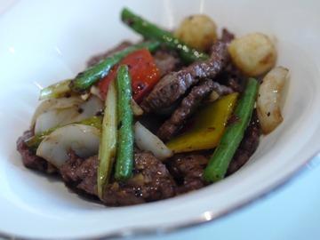 駝鳥と野菜炒め