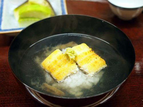 鰻の白焼き茶漬け
