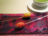 苺とオレンジのワンスプーンシャーベット