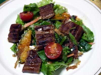 天然鰻のサラダ