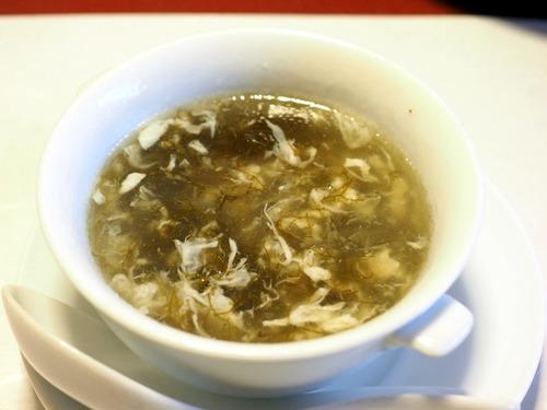 雲丹ともずくスープ