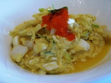 魚介と卵炒め
