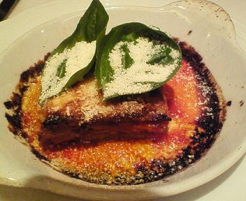 米茄子とモッツァレラのオーブン焼き