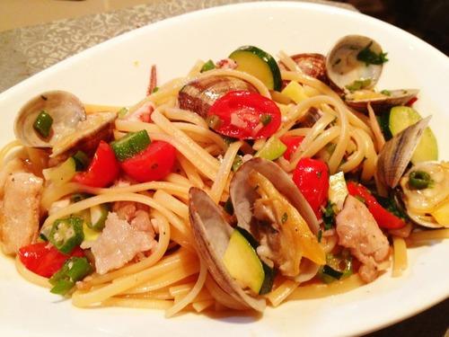夏野菜のフェデリーニ