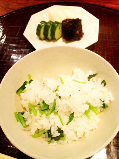 壬生菜じゃこご飯