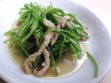 豚肉と水蓮菜の炒め