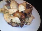 カエルとまこも茸の蝦子炒め