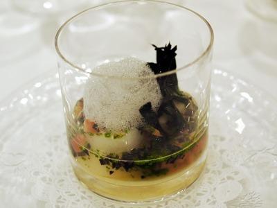 トリュフのフラン 真鯛のスープ