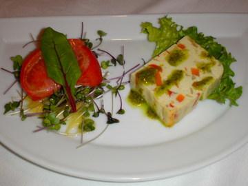 豆腐と野菜のテリーヌ