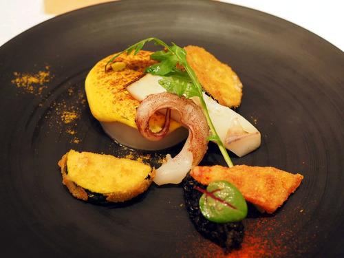 白烏賊と夏野菜のフリット