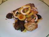 イカとセップ茸と筍