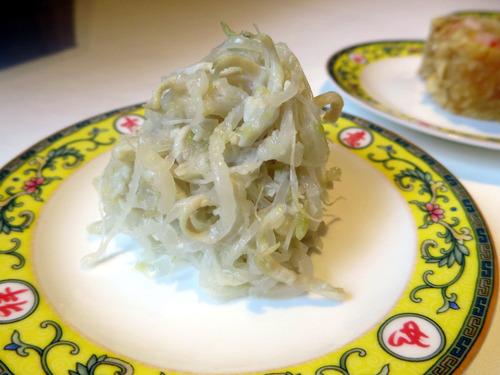 白菜の漬物と鶏肉和え