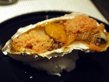 牡蠣と雲丹とホタテと長茄子と生姜と・・・