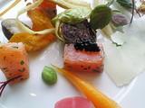 サーモンと春野菜