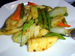 野菜の蝦卵炒め