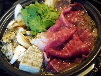 松茸と近江牛のすき煮