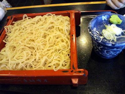 山椒蕎麦切り