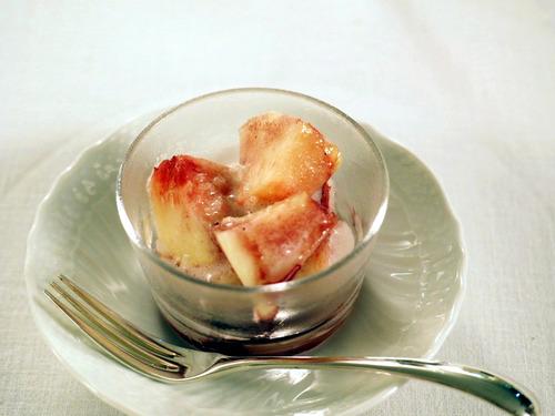 桃のマラスキーノエスプーマ