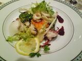 ブルターニュ産甲イカとつぶ貝のサラダ仕立て