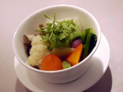 蒸し野菜と牛蒡のフラン
