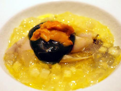 牡蠣とシャテルドンのジュレ