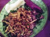 鶏肉と高菜炒め
