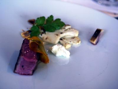 牛肉とカリフラワーと鯖