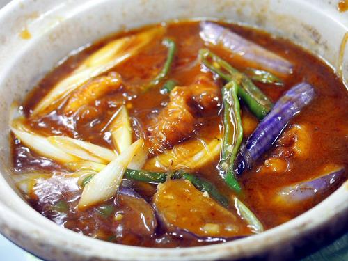 摂津茄子と豚肉の春雨煮込み