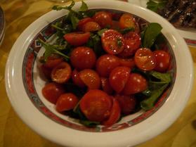 トマトとルッコラ