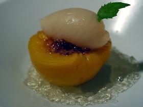 白桃のコンポート