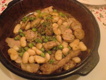 豆とソーセージ