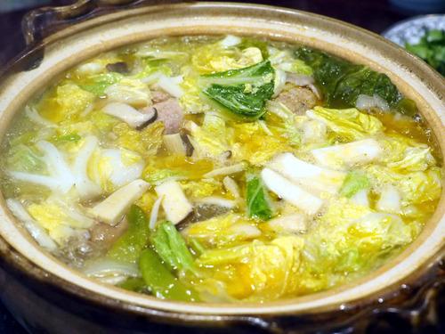 獅子頭と白菜と上海蟹味噌鍋