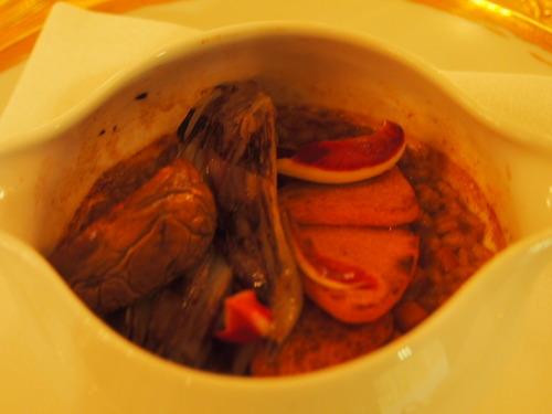 ラデッキィオロッソとスコットランドの茸
