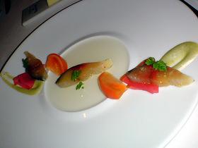 鯖のマリネと塩トマト