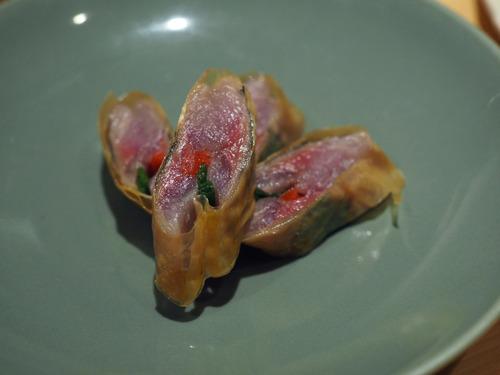 秋刀魚湯葉巻