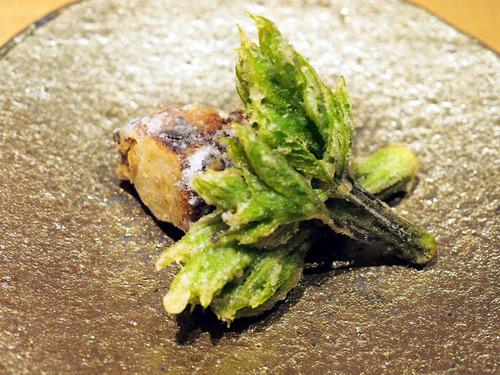タコとコシアブラの天ぷら