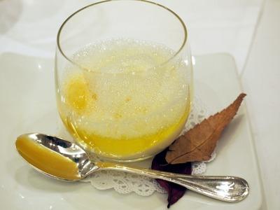 柚子のスープとヨーグルトスープ