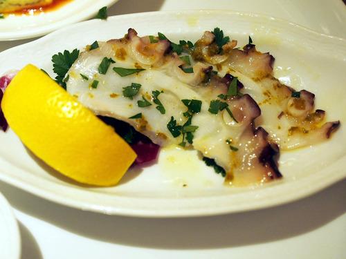 蛸のカルパッチョ