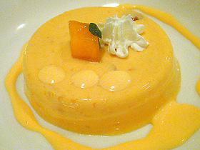 黄金桃のプリン