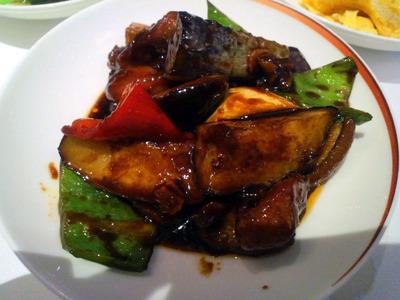 茄子と牛肉の甜麺醤炒め