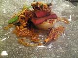 牛タンのグリエ玉葱のローストマスタードソース