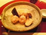 軍鶏つくねとどんこ椎茸のスープ仕立て