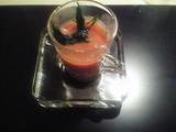 ポロ葱と四万十川の青海苔温製スープ