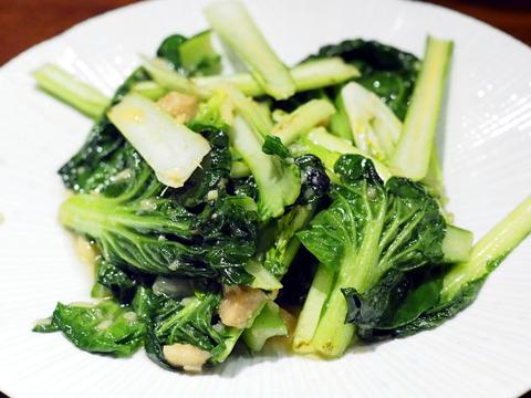 青菜の発酵おから炒め