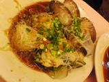 ハマグリと扇貝のニンニク葱醤油蒸し